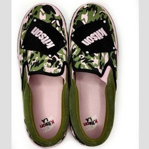 Kitson Camo and Pink Loafers